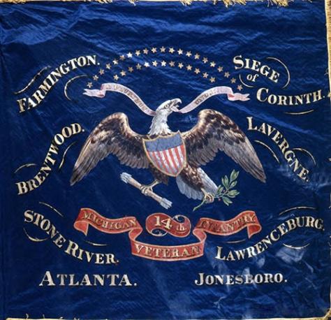 14th Michigan Infantry Flag