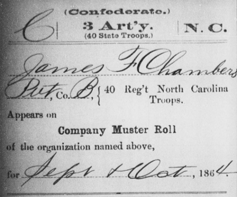James F. Chambers, Service Record