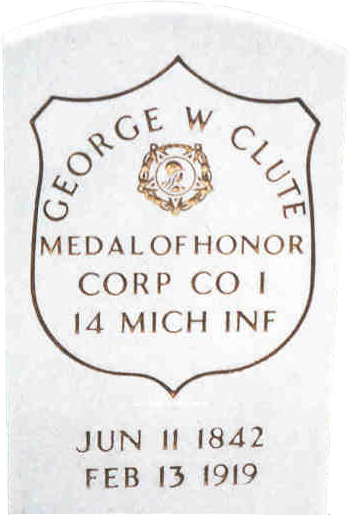 Gravestone, Cpl. George W. Clute