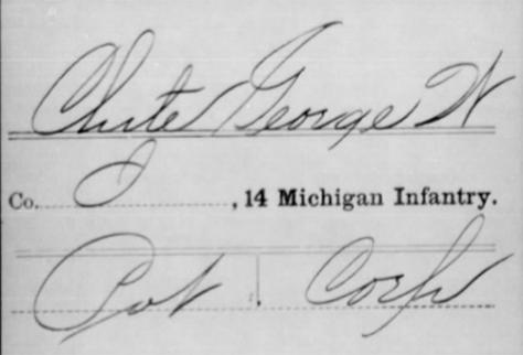 George W. Clute, Service Record