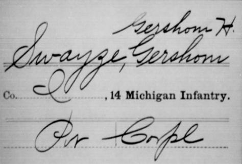 Gershom Swayze, Service Record